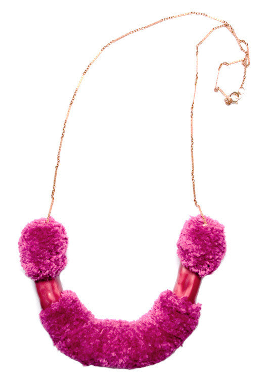Fox Necklace in Plum - LEIF