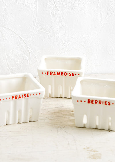 Francais Ceramic Berry Basket