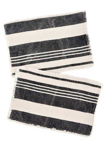 Frayed Stripe Placemat Set