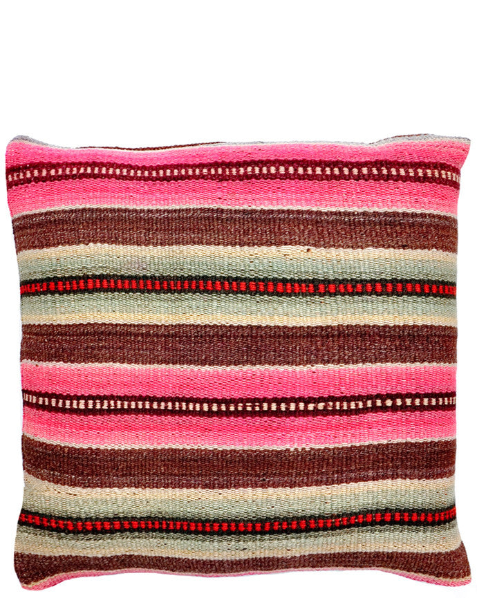 "Bolivian Frazada Pillow in Coconino, 22"" - LEIF"