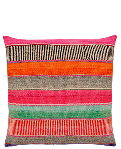 Bolivian Frazada Pillow in Cozumel, 22""
