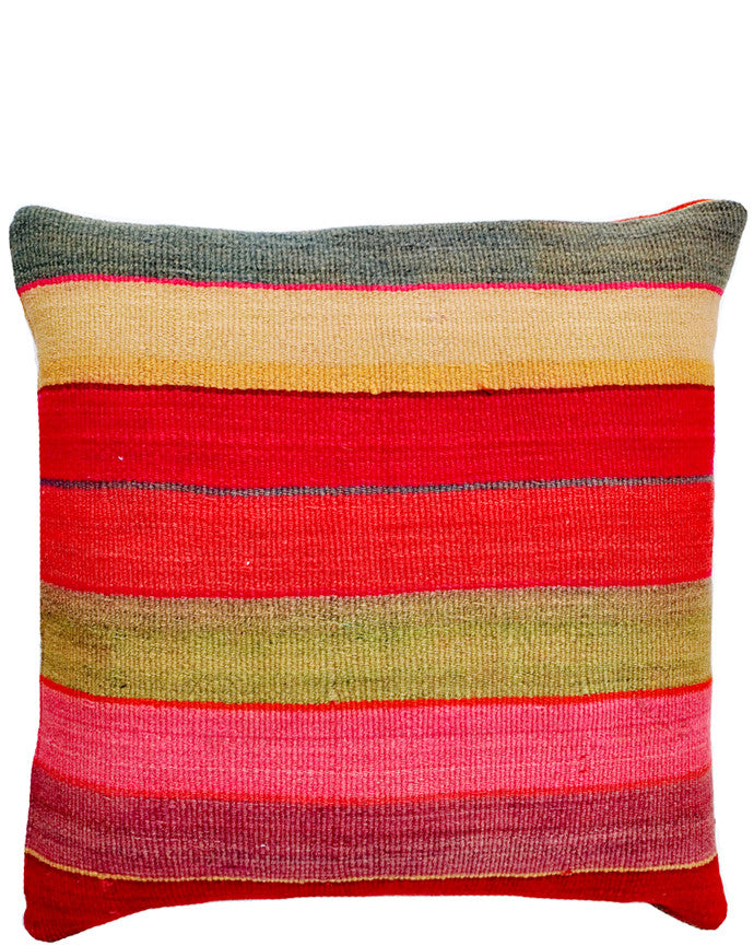 "Bolivian Frazada Pillow in Del Mar, 22"" - LEIF"