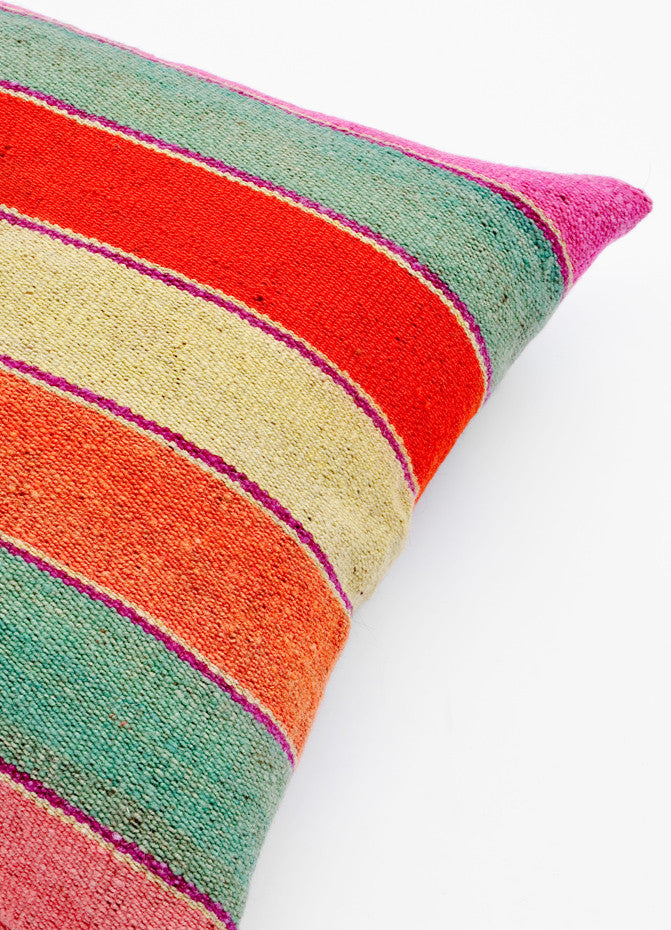 Bolivian Frazada Pillow in Palm Springs, 22""