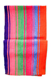 Bolivian Frazada Runner / Blanket, Saturated Stripe - LEIF