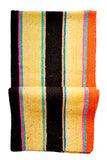 Bolivian Frazada Runner / Blanket, Yellow Multistripe