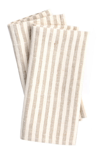 French Stripe Linen Napkin Set