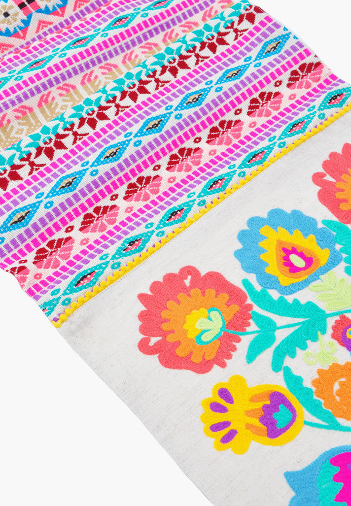 Frida Embroidered Table Runner - LEIF