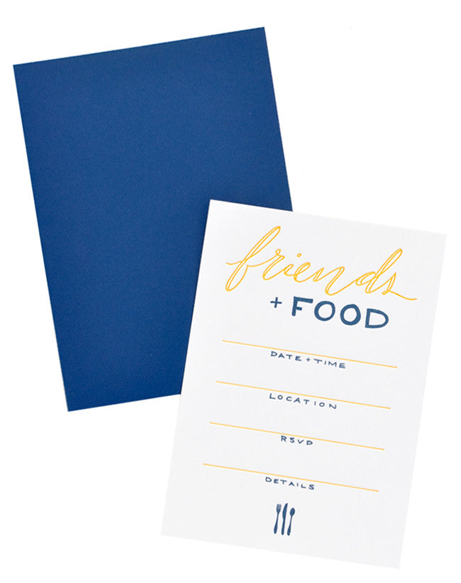Friends & Food Invitation Set - LEIF
