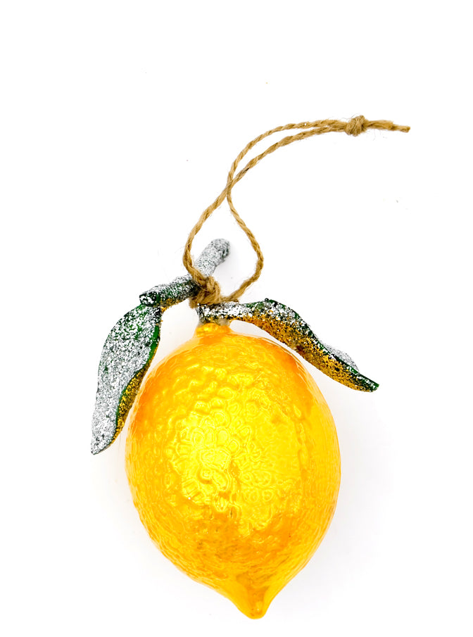 Frosted Lemon Ornament - LEIF
