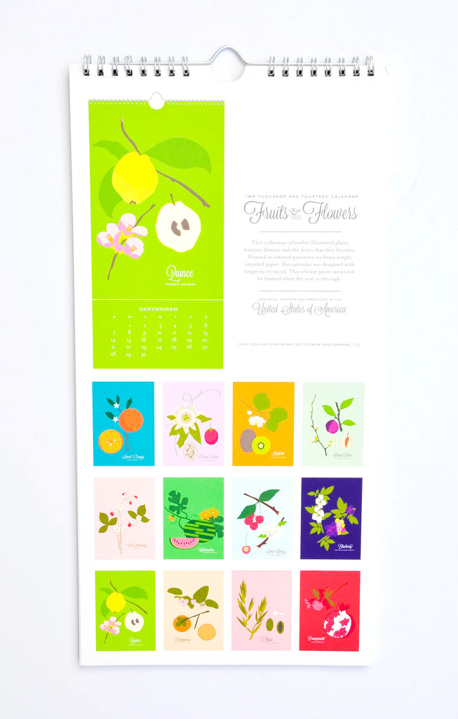 Fruits & Flowers 2014 Calendar
