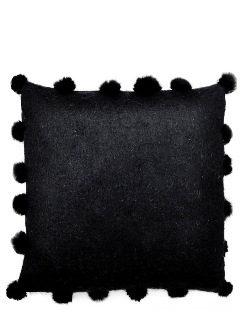 Fur Pom Pom Pillow - LEIF