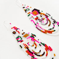 1: Galactic Groove Beaded Earrings in  - LEIF