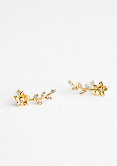 Gardenia Climber Stud Earrings hover