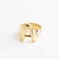 Gem Initial Ring in A - LEIF