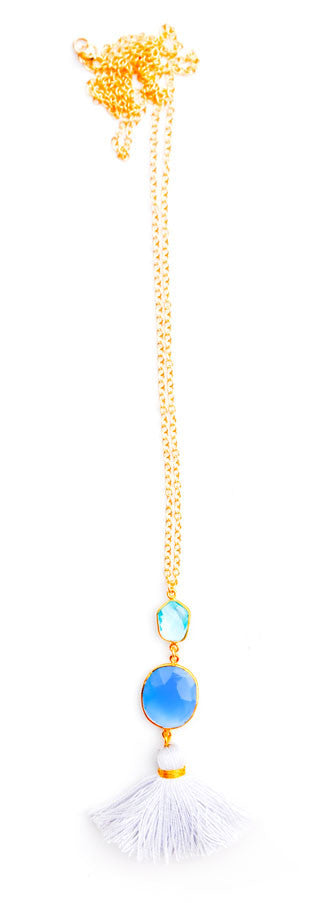 Gem Tassel Necklace - LEIF