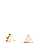 Gem Triangle Stud Earrings