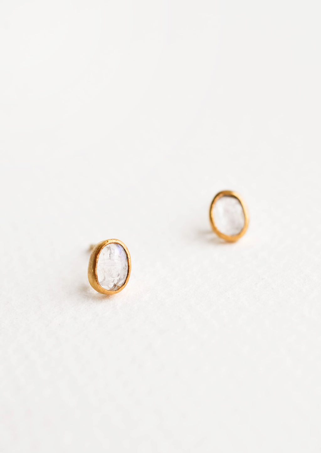 1: Gemma Moonstone Stud Earrings in  - LEIF