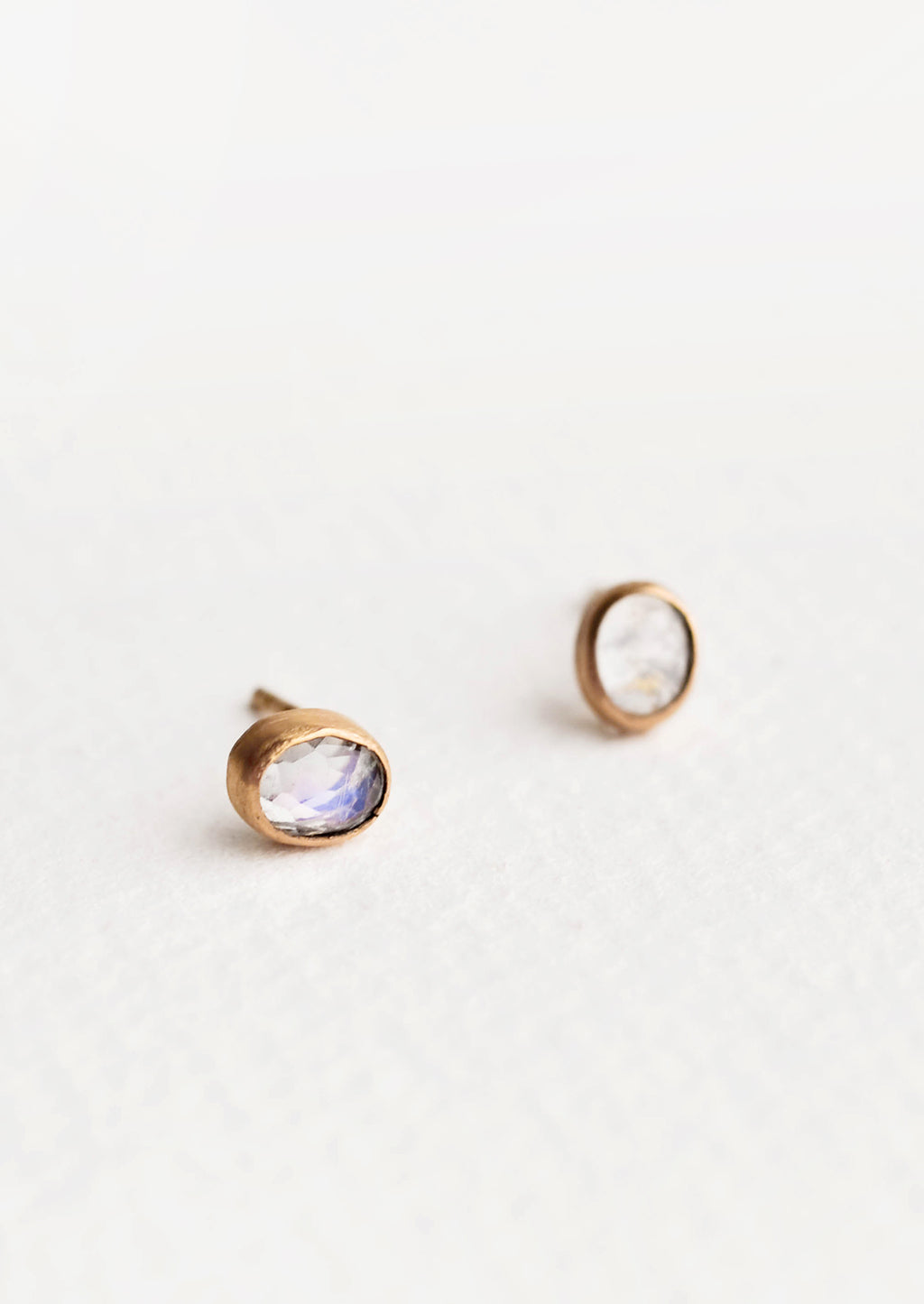 3: Gemma Moonstone Stud Earrings in  - LEIF
