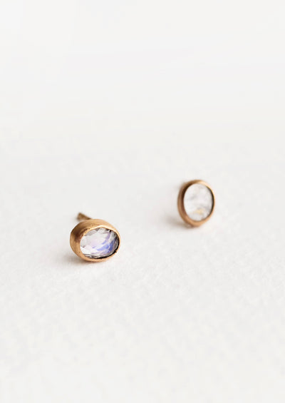 Gemma Moonstone Stud Earrings