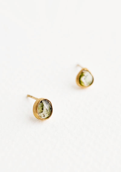 Gemma Tourmaline Stud Earrings hover