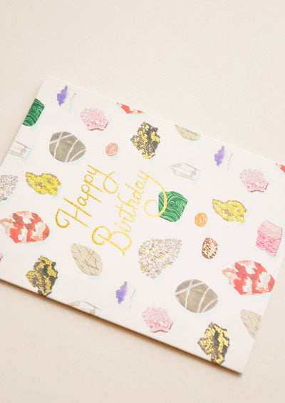 Gems & Rocks Birthday Card hover
