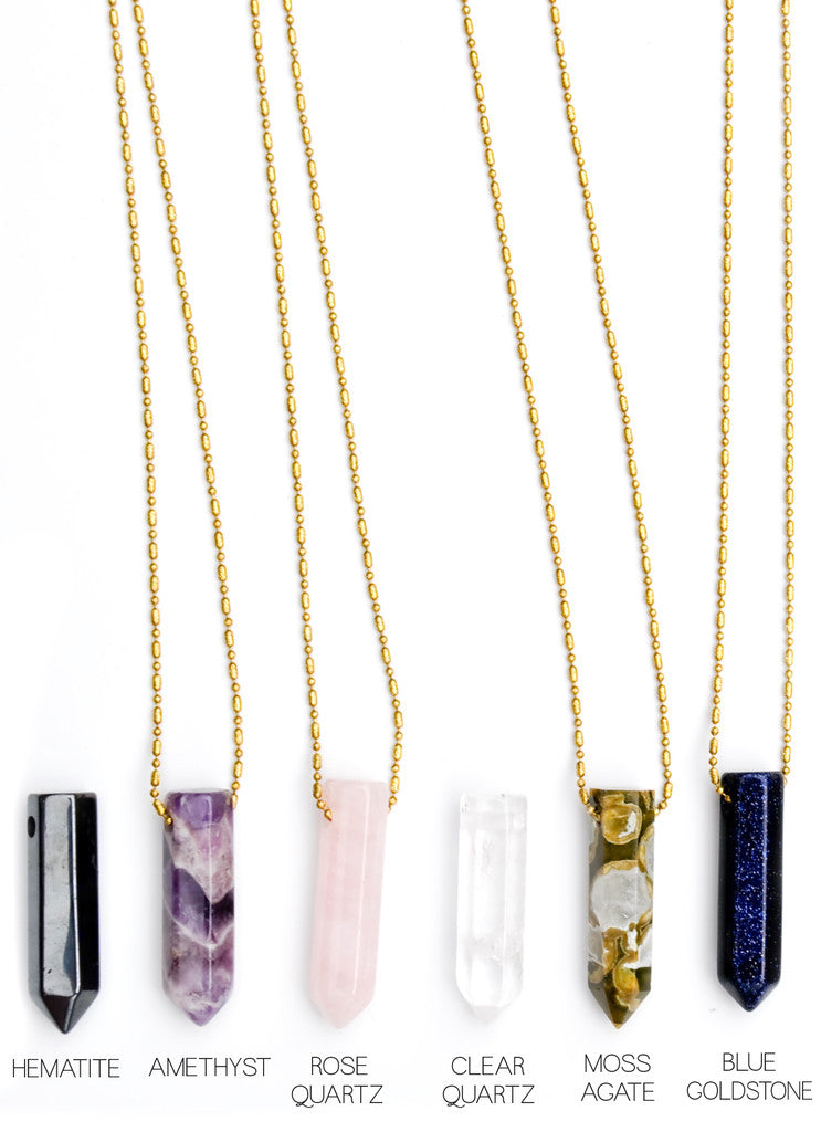 Gemstone Point Necklace