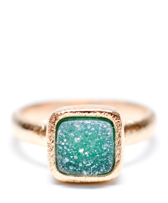 Geo Drusy Ring in Aquatic - LEIF