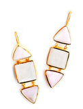 Geo Stack Drop Earrings - LEIF
