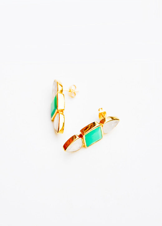 Geo Stack Stud Earrings