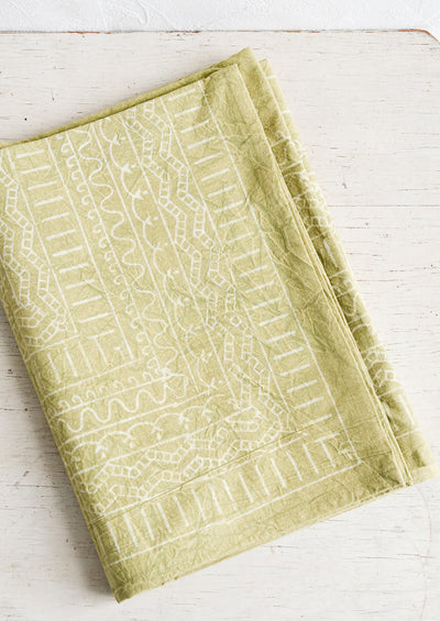 Geo Block Print Tablecloth