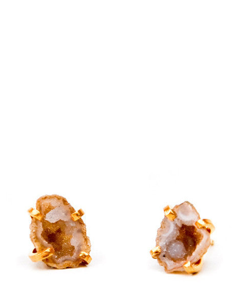 Tiny Geode Stud Earrings - LEIF