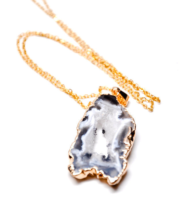 Geode Slice Necklace - LEIF