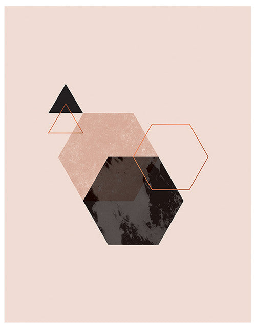 Geometric Copper Foil Print - LEIF