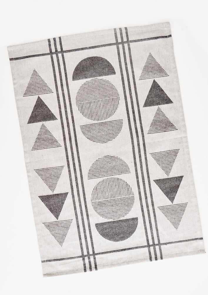 Geometry Print Tea Towel