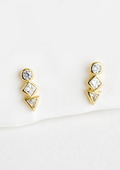 Geo Stack Stud Earrings hover