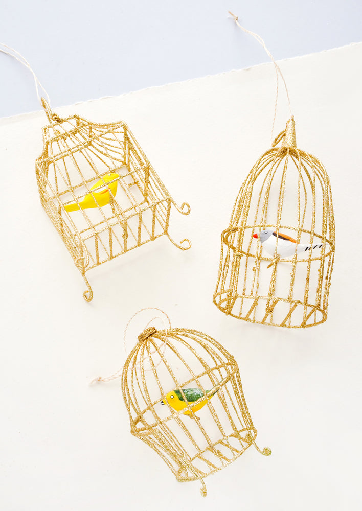 4: Caged Songbird Ornament in  - LEIF