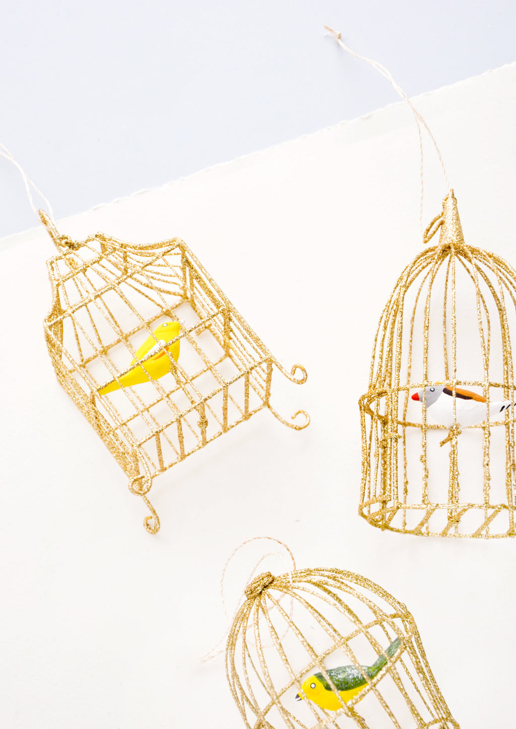 3: Caged Songbird Ornament in  - LEIF