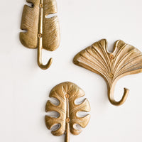1: Gilded Leaf Wall Hook in  - LEIF