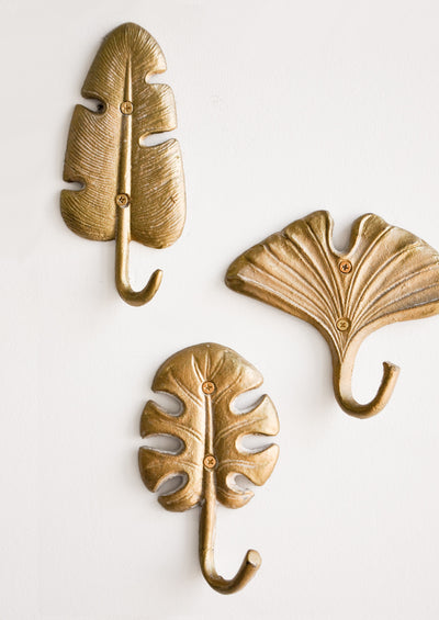 Gilded Leaf Wall Hook in  - LEIF