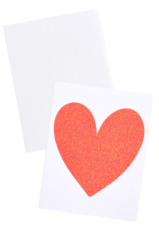 Glitter Heart Card Set