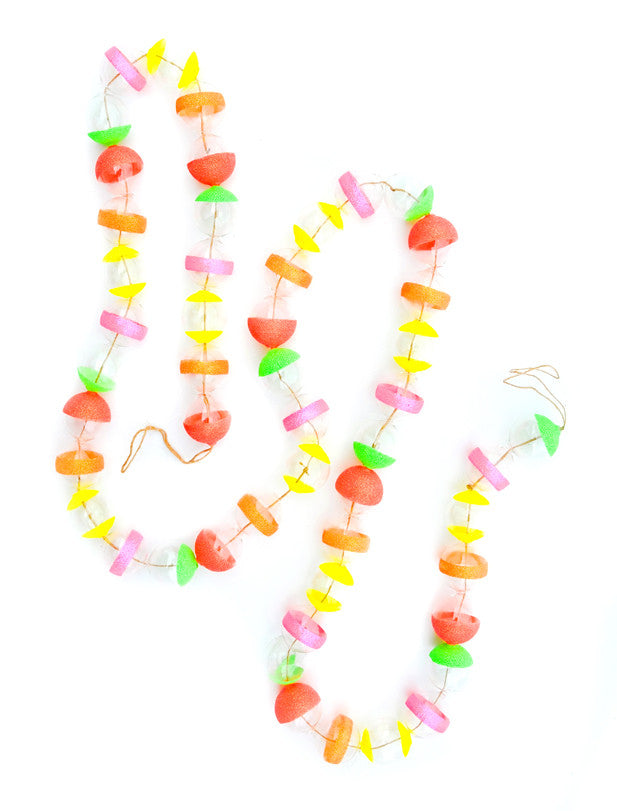 Neon Glitter Striped Glass Garland - LEIF