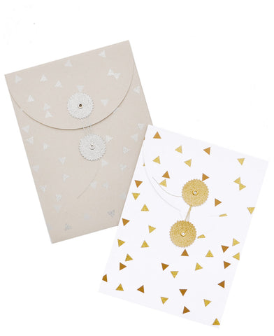 Glitter Triangles Gift Bag Set - LEIF