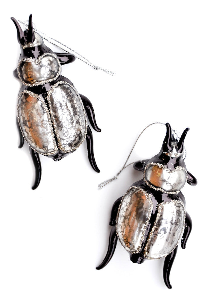 Glittered Beetle Ornament - LEIF