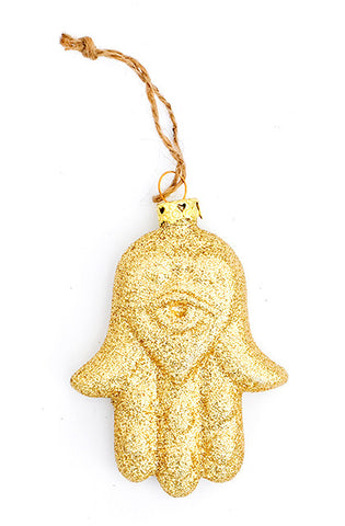 Glittered Hamsa Ornament