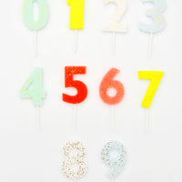 Glittered Number Party Candles - LEIF