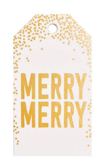 Gold Foil Confetti Gift Tags - LEIF