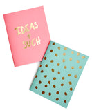 Gold Foil Pocket Notebook Set - LEIF