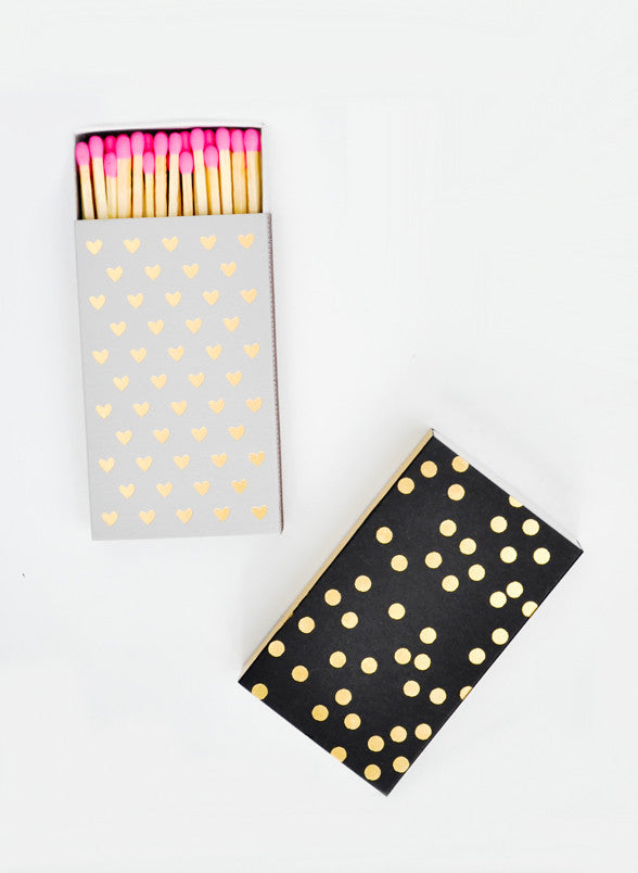 Gold Foil Printed Matchbox - LEIF