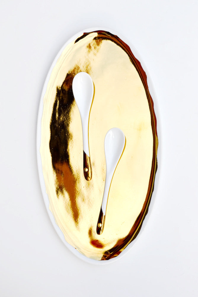 Gold Glazed Porcelain Platter