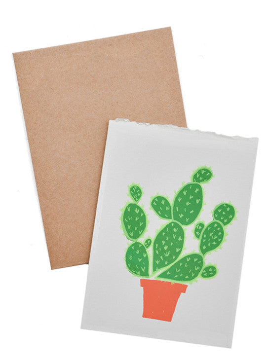 Cactus Screen Printed Card - LEIF